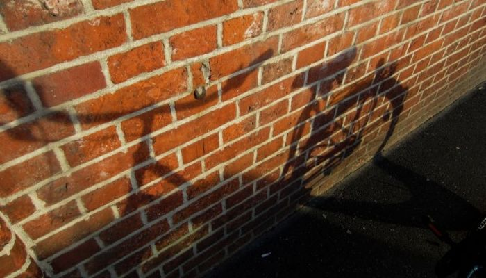 shadow of a bike